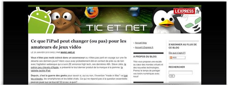 Blog Tic et net