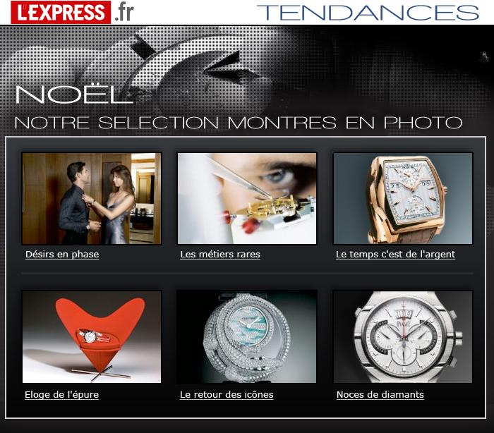 Emailing pour la page Tendance de lexpress.fr