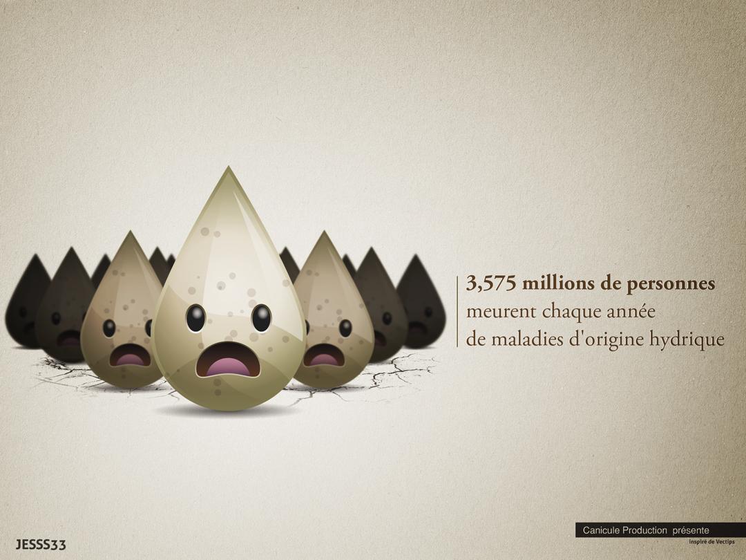Campagne pour les eaux poluées pour Canicule Production