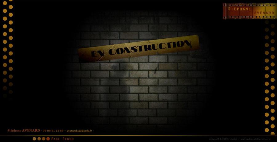 Page en construction du portfolio de Stéphane Avenard