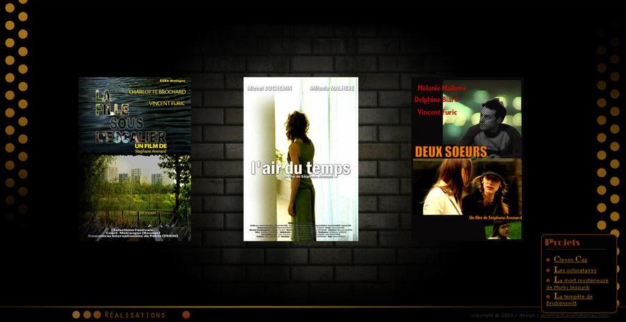 Page des films du portfolio de Stéphane Avenard