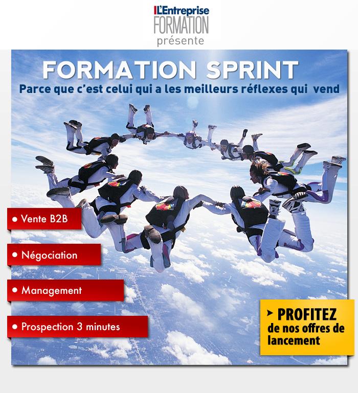 Emailing pour le partenariat Formation Sprint et lentreprise.com