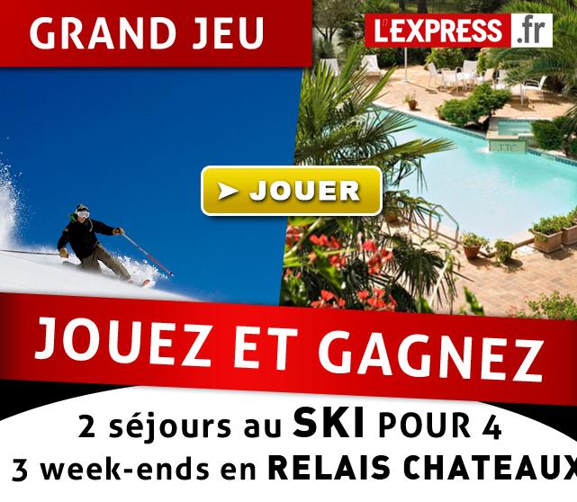 Emailing pour un jeu/concours de lexpress.fr en partenariat avec Relais Chateau