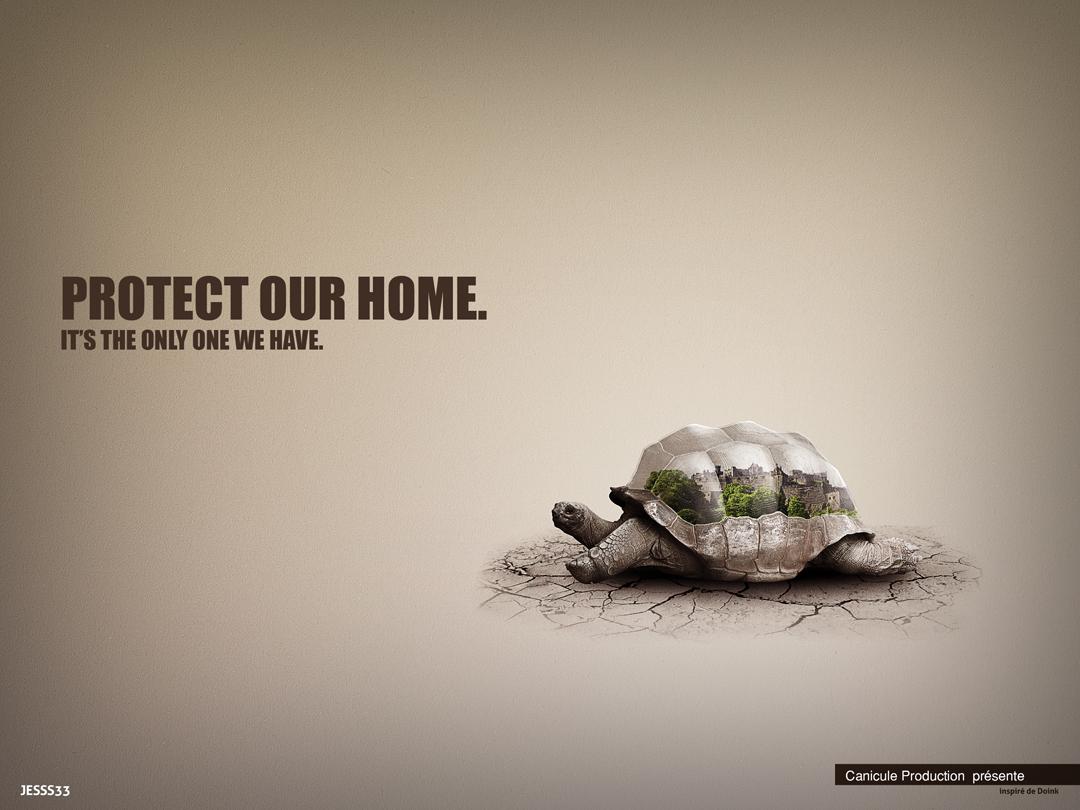 Campagne publicitaire sur la protection de l'environnement pour Canicule Production