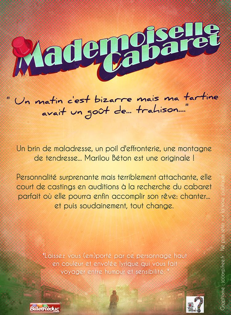 Verso du flyer pour Mademoiselle Cabaret
