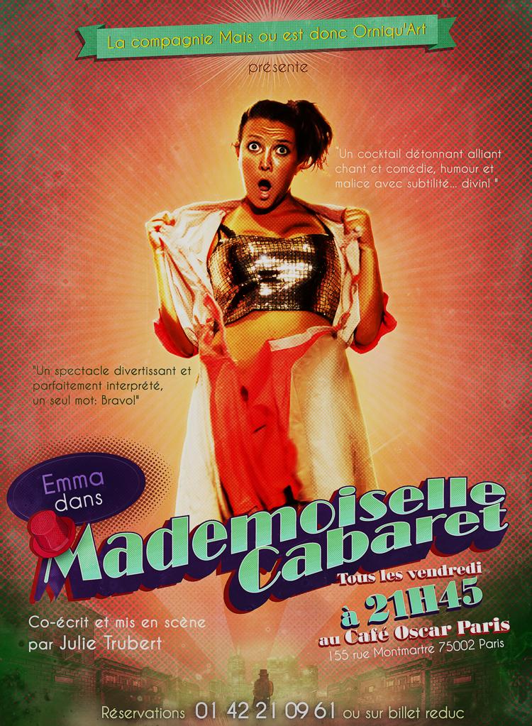 Recto du flyer pour Mademoiselle Cabaret