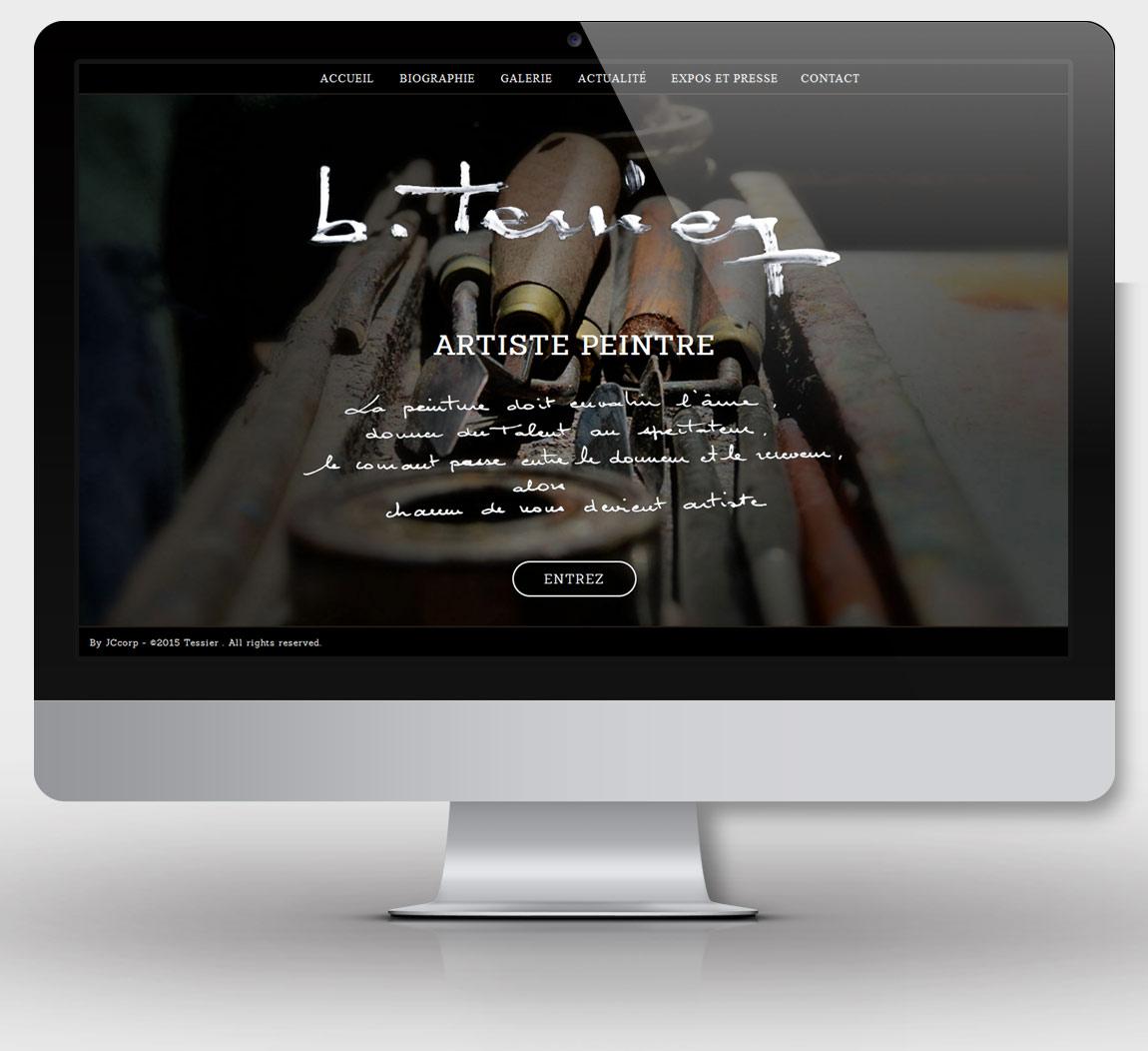 Page d'accueil du site b-tessier.fr