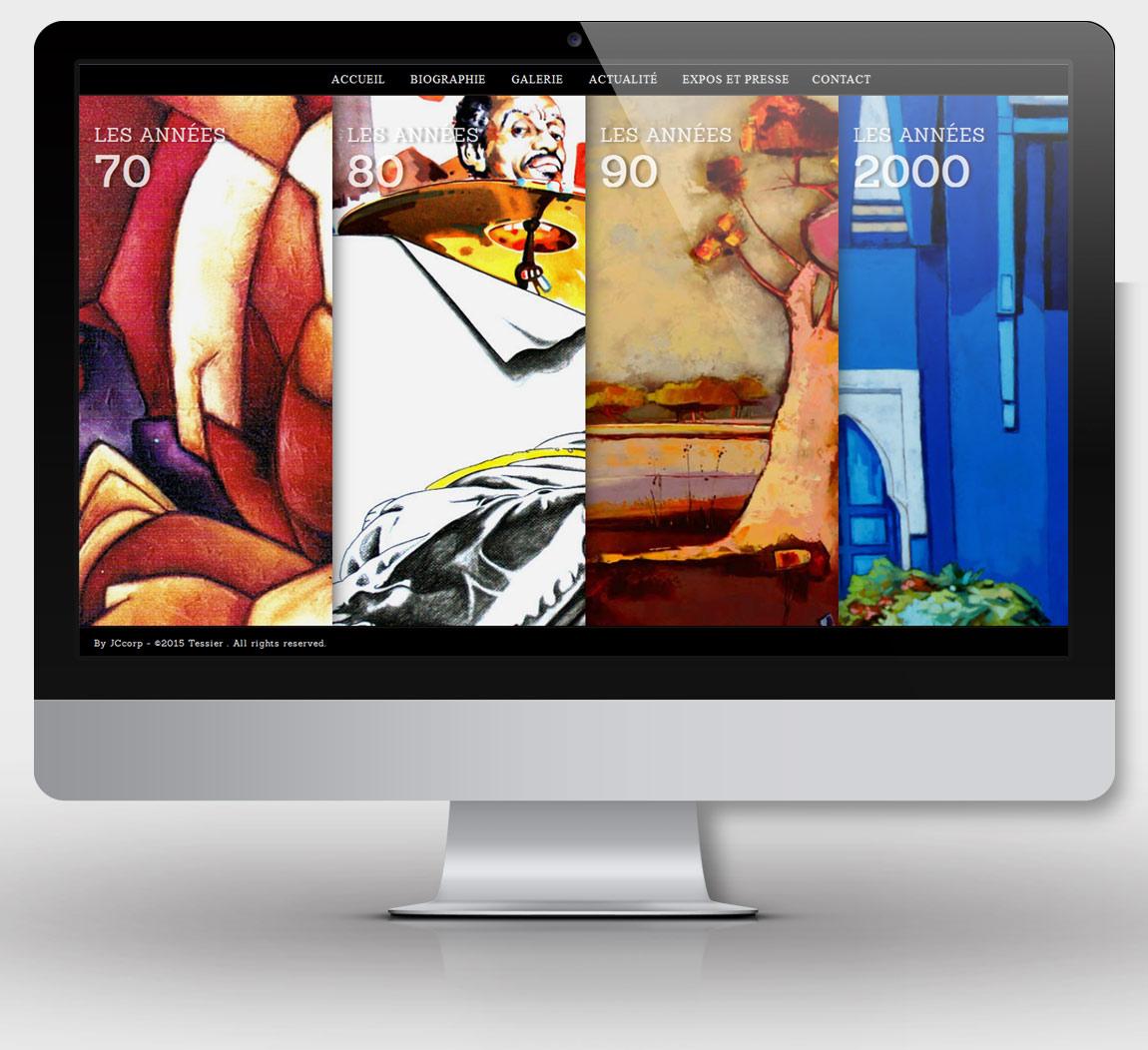 Page Galerie du site b-tessier.fr
