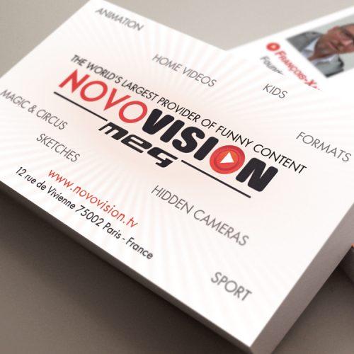 Carte de Visite pour l'équipe de Novovision